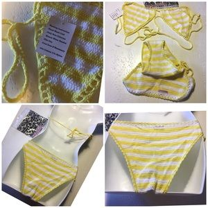 musotica Swim - Musotica Crochet sexy yellow wh- rare color XL